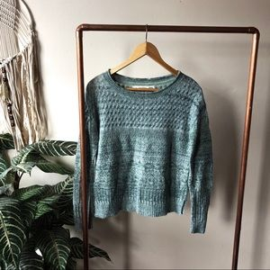 Anthropologie Sparrow sweater blue green size XS